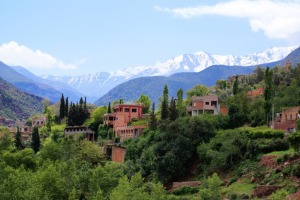 ourika valley and atlas mts.