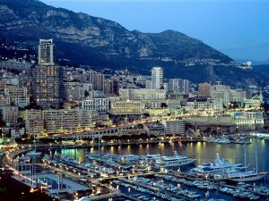 Monaco at twilight