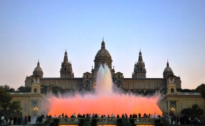 montjuic-barcelona. magic fountain