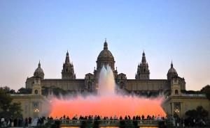 montjuic-barcelona. magic fountain