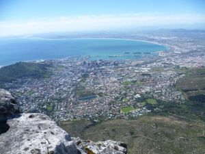 cape town from table mt