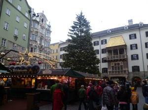 Christmas market and Golden Roof