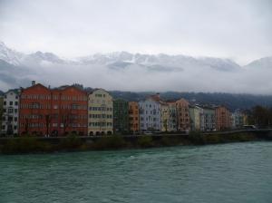 Innsbruck Houses and Alps