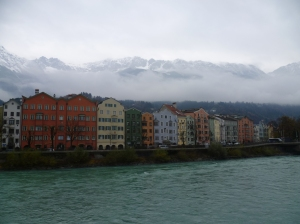 Innsbruck Houses and Alps