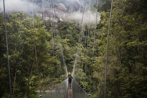 Fiordland's longest swingbridge