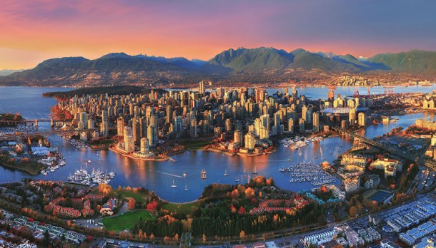 100Aerial-Sunset-Vancouver